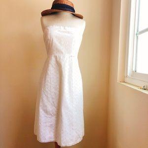 JCrew Cotton Eyelet Midi Dress